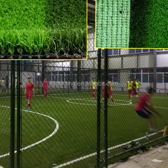 New Type No Infill Thick Football Turf Non Infill Artificial Grass For Indoor Futsal, Field green &apple green