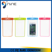 High quality universal TPU phone case waterproof fluorescent swimsuit cell phone bag