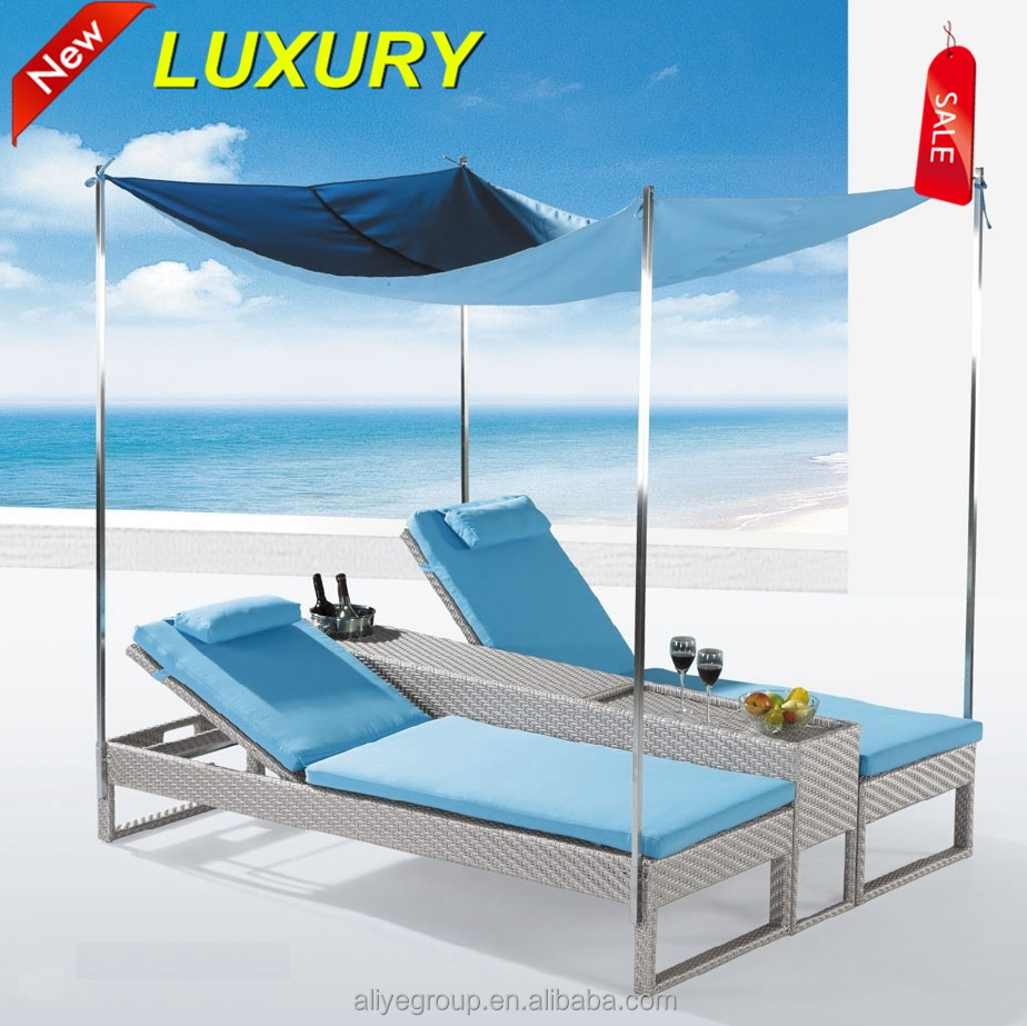 Wicker Rattan Swimming Pool Lounge Chair / Beach <strong>Sun</strong> Lounger / Swimming Pool Chair-ADH791