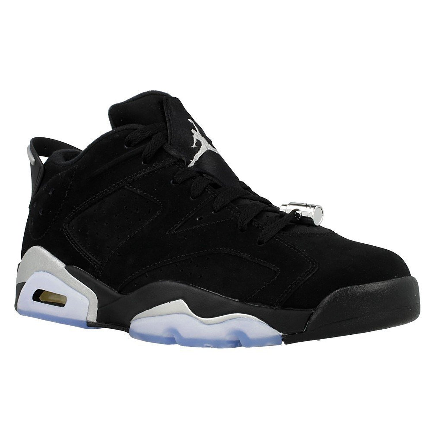 Jordan Nike Air Retro 6 Low Chrome Mens Black/Metallic Silver/White 304401-003 (15)
