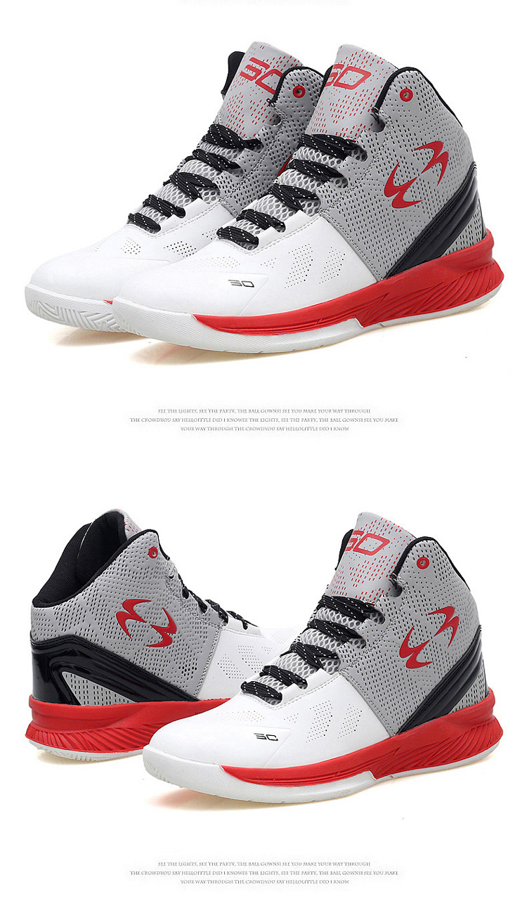 High quality anti slip durable sneakers high top basketball shoes