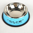Colorful wholesale dog bowls Stainless steel pet bowls for puppy cat bowl for cat