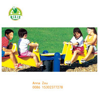 Fun outdoor playground equipment four person seesaw for kids QX-18092B