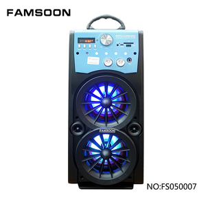 5 inches portable wireless speaker with FM radio and bluetooth
