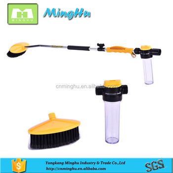 Automotive Power Washer Car Wash Spray Gun And Brush With Soap