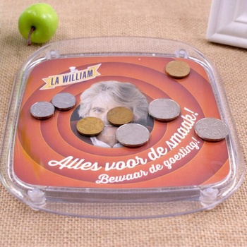 Custom Design Plastic Square Money Tray For Coin Display