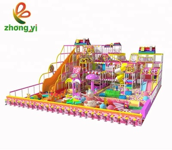Commercial Candy Pink Kids Indoor Playground Equipment