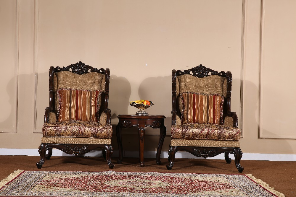 Egyptian Arabic Style Sectional Sofa Wood Carving Living Room
