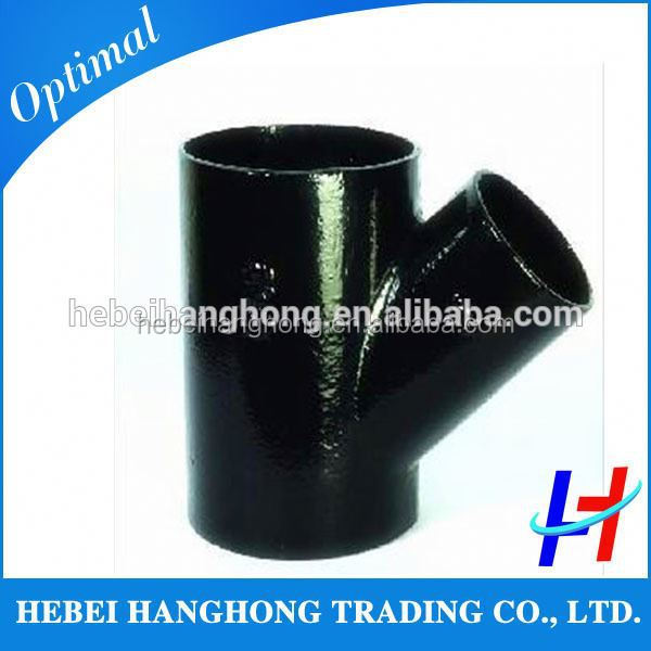 Trade Assurance Supplier HeBei standard asme b16.9 carbon steel lateral tee manufacturer