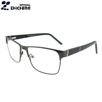 d33e8d50e6f8c Quadros de óculos designer para homens preto aro cheio prescrição óculos  prateado pino de metal do