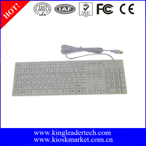 IP68 Waterproof Silicone Keyboard with Hebrew Layout Used in Hospital