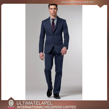 Whole Custom Made 2 Piece Blue Coat Pant Men Suit Office Uniform Design