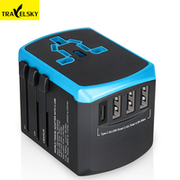 Travelsky New USB C type world travel adapter quick charger universal socket outlet 4500mA usb adaptor