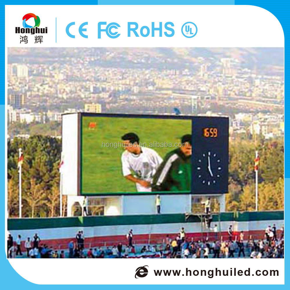 Outdoor full color china video play football stadium perimeter P5 led screen display