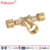 pex manufacturer brass nickel plated compression fitting for pex al pex pipe
