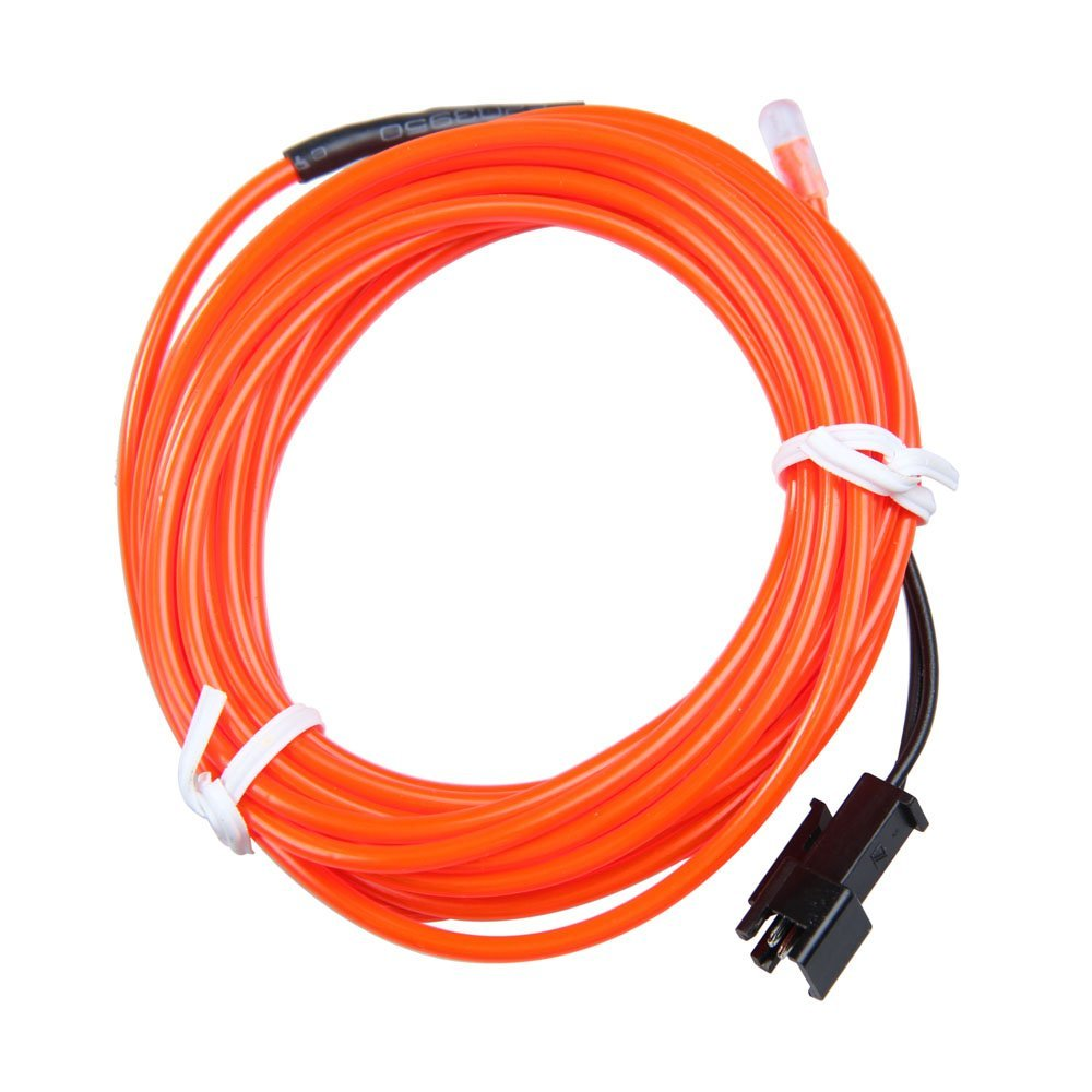 Vanpower 12V 3M Car Party Flexible Neon Glow EL Light Rope Wire Red for Car Party Decoration