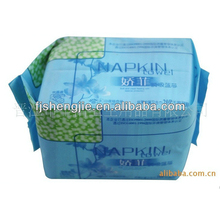 Free Samples Soft Cotton Belted Feel Free Negative Ion Sanitary Napkin for lady
