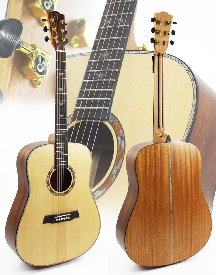 41 Inch All Solid Wood Acoustic Guitar