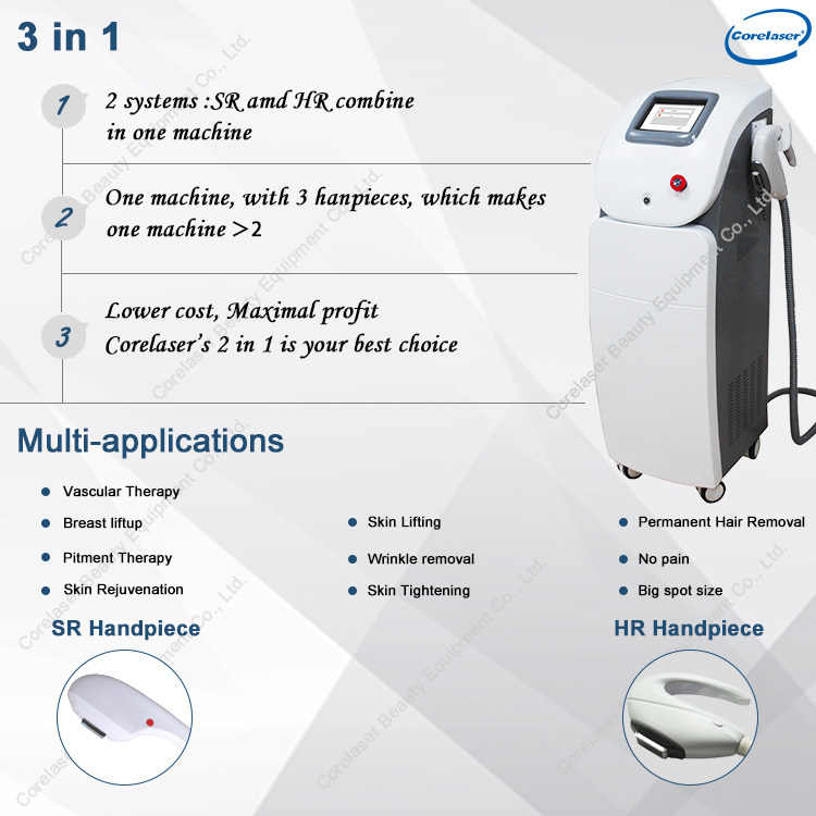 2020 new products OPT system SHR IPL hair removal machine