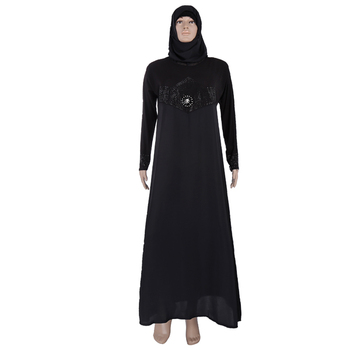 Latest Dubai Design 2016 Jilbab Muslim Abaya In Black
