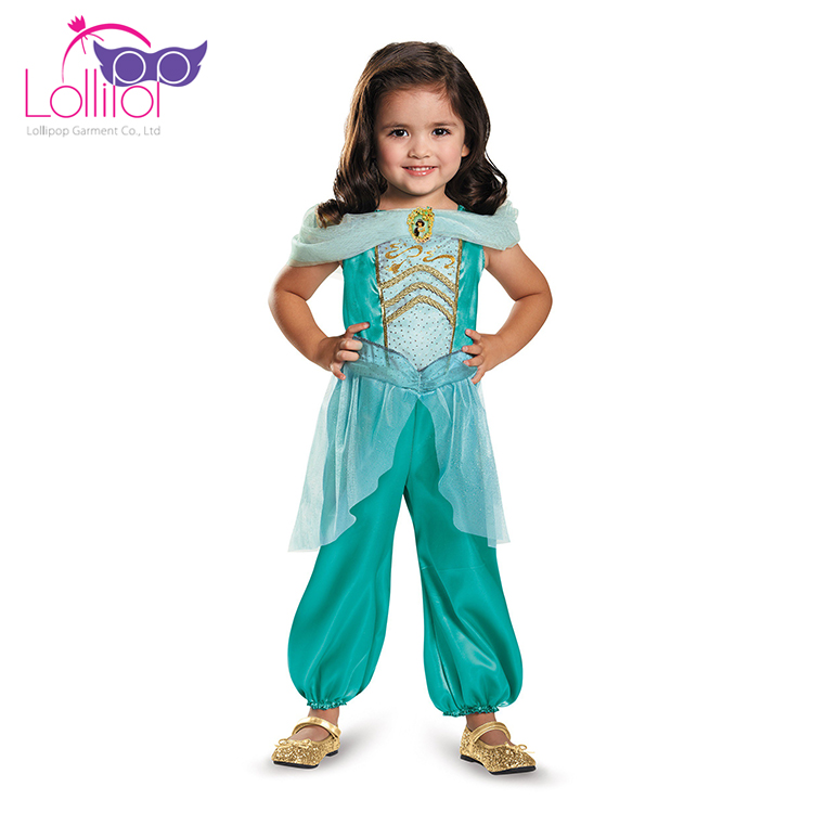 Wholesale kids girls princess jasmine costume children in Aladdin outfit