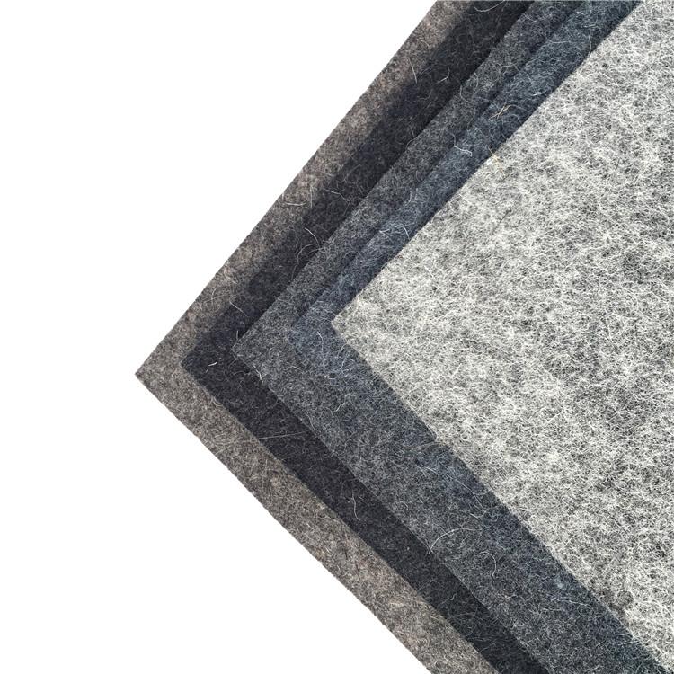 100% lã sentiu lã cinza pressionando material de feltro