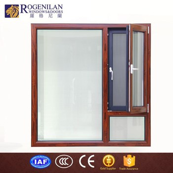 Rogenilan 1314 Hollow Gl Soundproof One Side Fixed Customized Aluminum Stained Window Panels Film