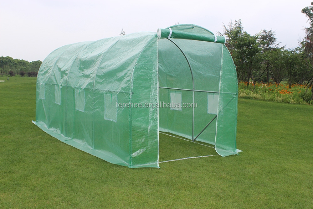4.5 x 2 x 2M Strong Galvanised Steel Frame polytunnel Garden Greenhouse
