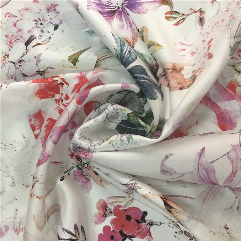 FY Printed Silk Fabric Custom Printed Twill Type