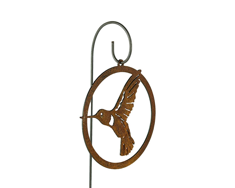 Hummingbird Garden Ornament | Hummingbird Gifts | Hummingbird Art for Outdoors | Garden Decor | Garden Gifts | Garden Sign | Garden Art | Gardening | Garden Statue | Rusty | Metal | Metal Art