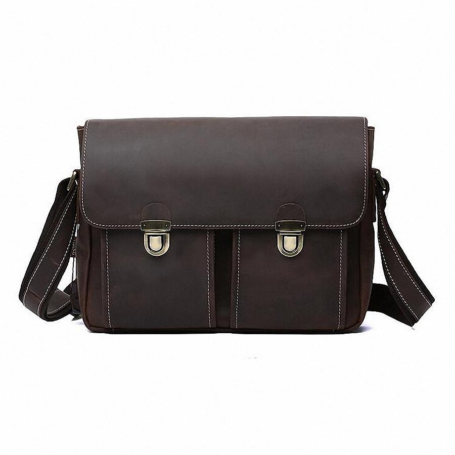 a85cae6e0 Get Quotations · Crazy horse leather men genuine leather handbag laptop  men's briefcase tote men messenger bags shoulder vintage