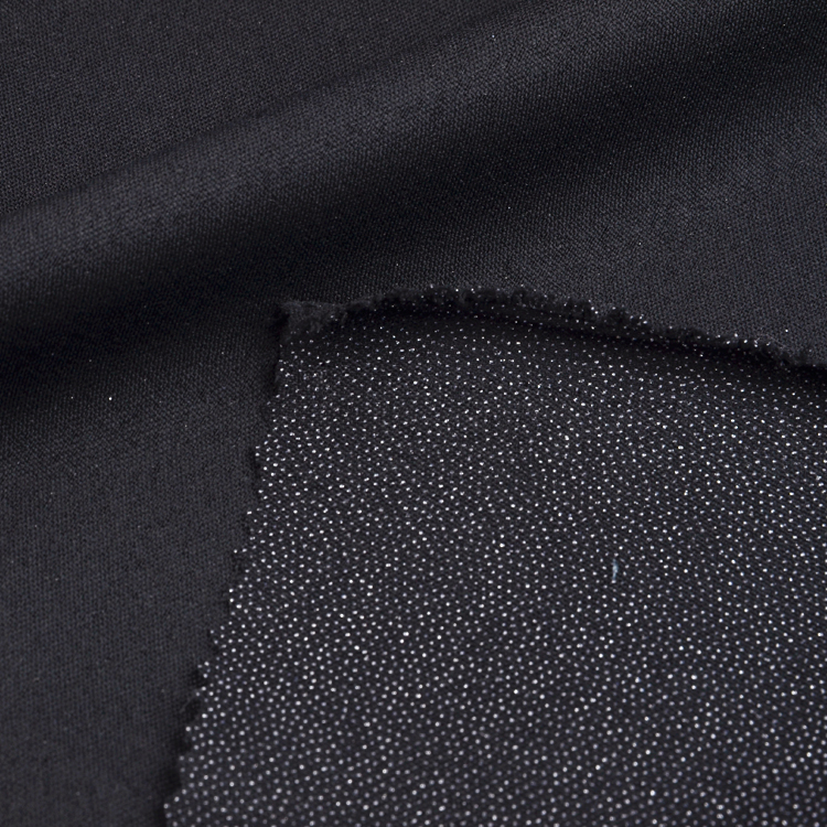 Polyester high class twill woven fusible interlining fabric for jacket