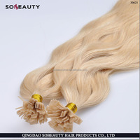 Human Hair 100% High Quality Flat Tip Russian Hair Extensions UK