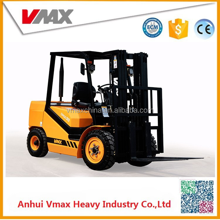3 ton forklift manual hydraulic forklift with spare parts for free CPC30