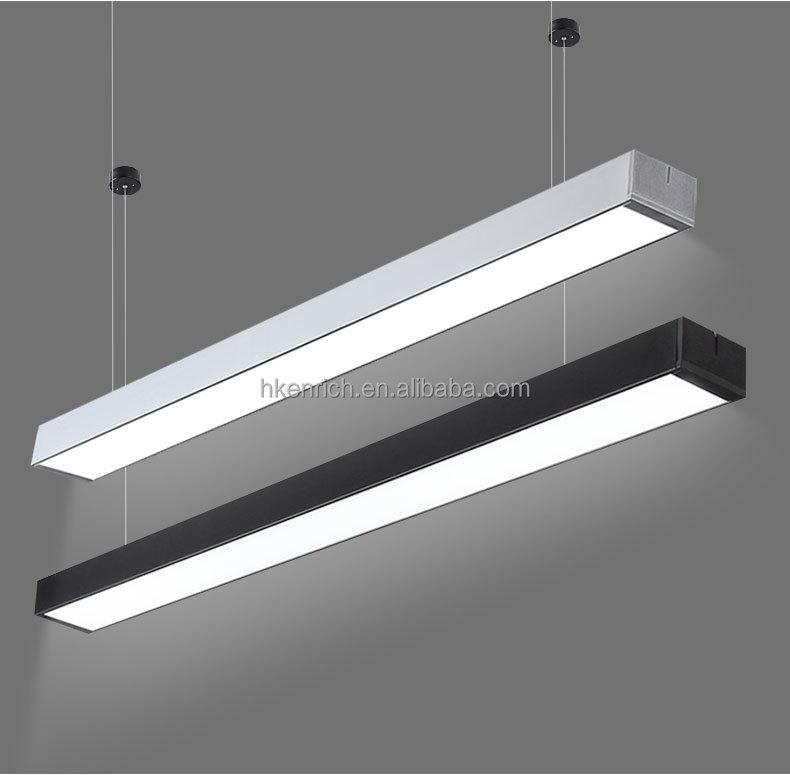 Bureau Moderne Acrylique Lustre Lampe Suspension Aluminium Led En D zSVUMp