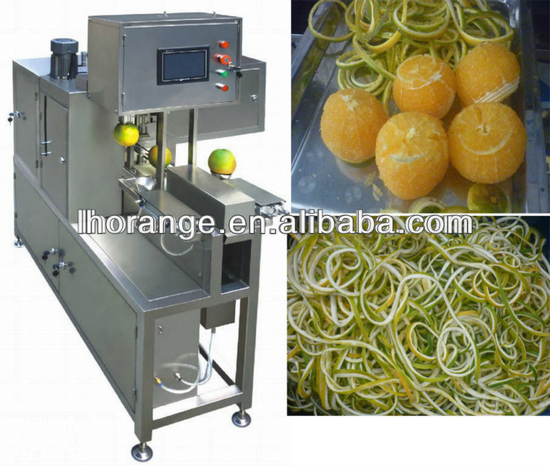 Most advanced and easy operate Automatic stainless steel Orange Citrus Lemon Grapefruit Guava Kiwi Persimmon peeler machine