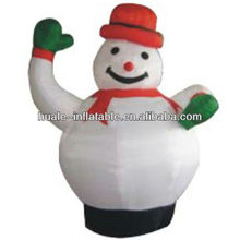 Christmas inflatable lovely snowman,big inflatable snowman for party decoration