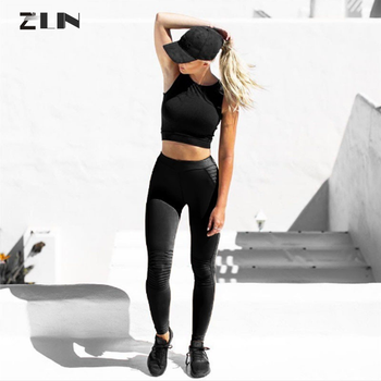 90c71312c81cb 2018 US hot sale High Waist Running Pants Elastic Tights Girl Slimming  Fitness Leggings