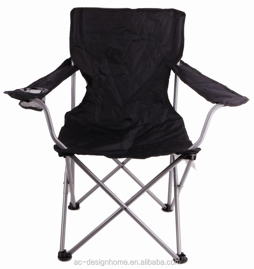 Black 600d Polyester Steel Beach Chair