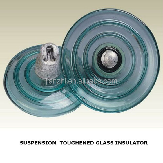 120KN glass insulator U120BS&silicon rubber insulator can be customized