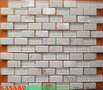White Tile For Bathroom Mother Of Pearl Bathroom Tiles Glass Mix Shell Mosaic Ksl8881 Buy