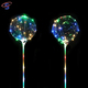 Hot Products 2017 Happy Birthday Led Light Up Transparent Clear Bobo Led String Balloon With 80cm Stick