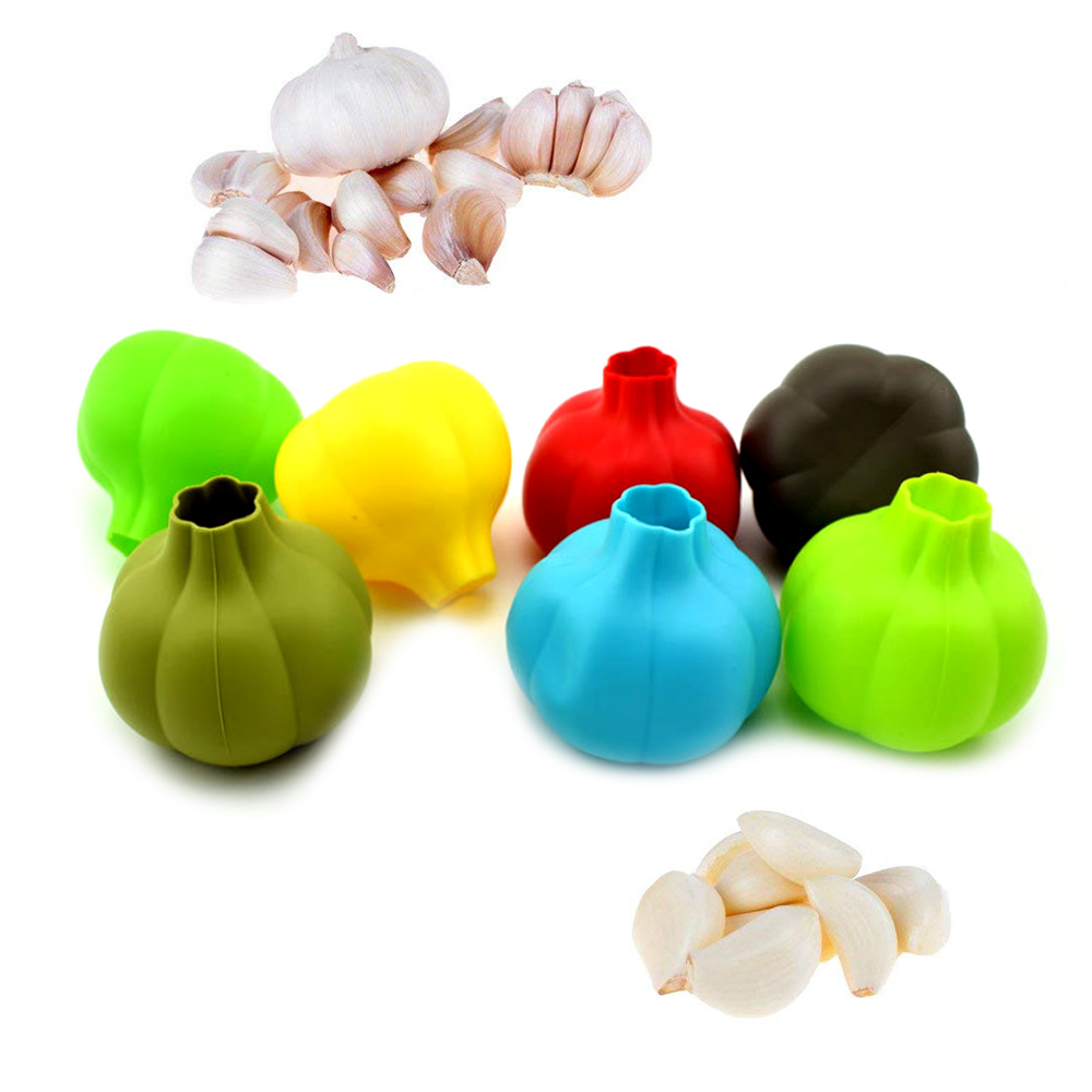 100ml BPA free wholesale food grade silicone garlic peeler