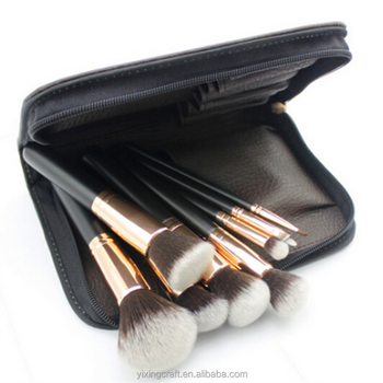 Makeup Brush Set 11pcs Cosmetic Brush Foundation Blending Blush Concealer Eye Face Lip Brushes for Powder Liquid Cream