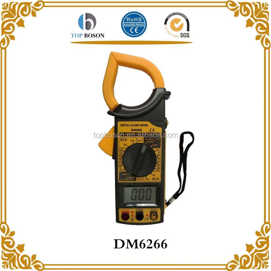 DM6266 Auto-Ranging Digital Handheld Clamp Meter True RMS Tester