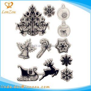 Clear stamp rubber new design various styles creative stationery custom shiny stamp for kids
