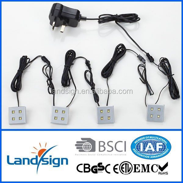 LED plinth light kits 4 white lights one set kitchen led kits