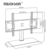 Economical Adjustable Floor Mounted Tv Cart Stands Floor LCD LED TV Stand For 600*400
