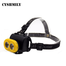 CYSHMILY 2 LED Bulb Light Outdoor Night Fishing Headlamp Rechargeable Miner 3w High Power Led Headlight
