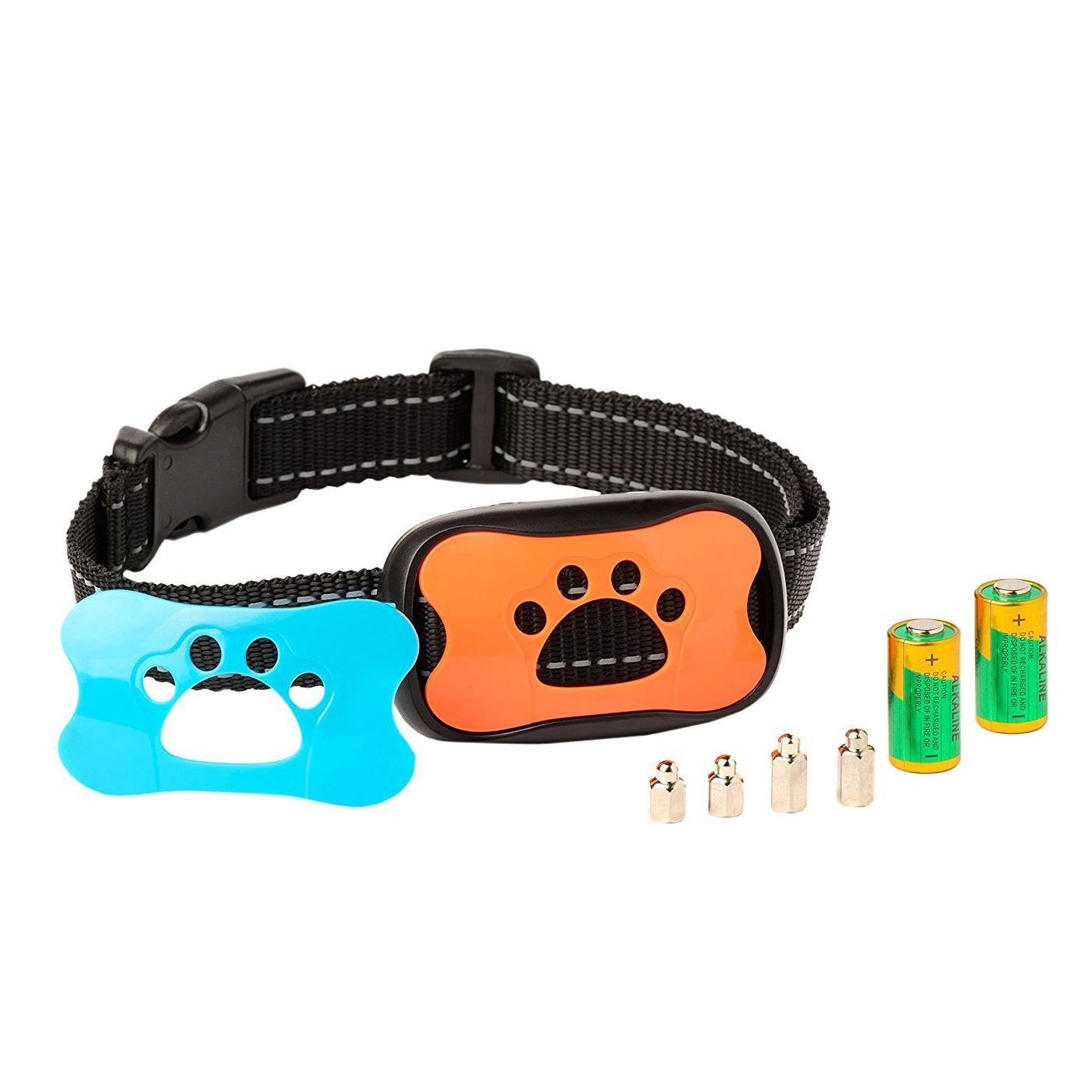 China Pet Supplies Accept Custom Logo Humune Shock Training Dog Collars Anti Barking Collar